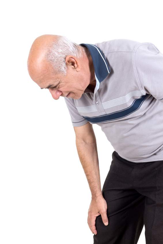 elderly man joint pain